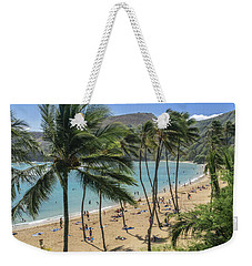 Weekender Tote Bag featuring the photograph Hanauma Bay by Steven Sparks