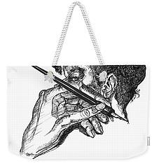 Hand And Pen Weekender Tote Bag