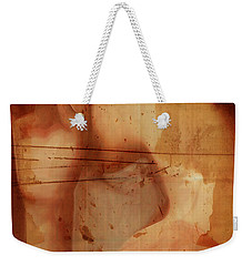Weekender Tote Bag featuring the digital art Hand Hiding by Andrea Barbieri
