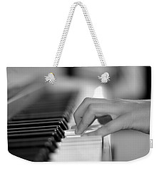 Hand On Piano Keyboard Weekender Tote Bag