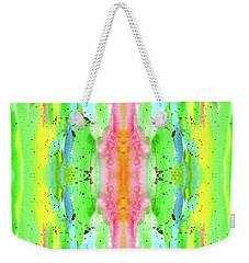 Hand-painted Abstract Watercolor In Bright Rainbow Hues Weekender Tote Bag