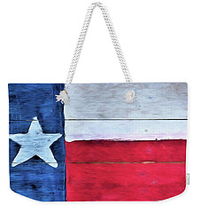 Hand Painted Texas Flag Weekender Tote Bag