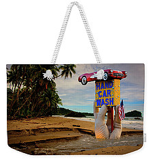 Weekender Tote Bag featuring the photograph Hand Wash by Harry Spitz