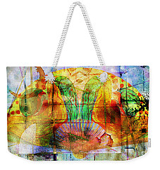 Handheld Fan Weekender Tote Bag