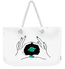 Hands Around Saturn Weekender Tote Bag by Lucy Frost