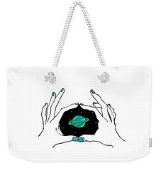 Hands Around Saturn Weekender Tote Bag
