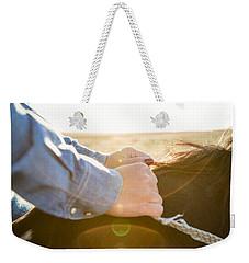 Hands On The Reins Weekender Tote Bag by Todd Klassy