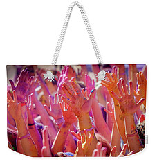 Weekender Tote Bag featuring the photograph Hands Up by Okan YILMAZ