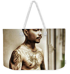 Weekender Tote Bag featuring the photograph Handsome Man With Tattoos. #thailife by Mr Photojimsf