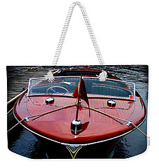 Handsome Wooden Boat Weekender Tote Bag
