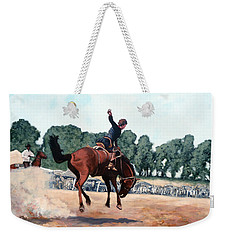 Weekender Tote Bag featuring the painting Hang On Hastings by Tom Roderick