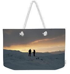 Weekender Tote Bag featuring the photograph Hanging Around Iceland by Dubi Roman