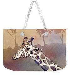 Weekender Tote Bag featuring the painting Hanging Out- Giraffe by Ryan Fox