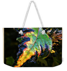 Weekender Tote Bag featuring the photograph Hanging Out by Joan  Minchak