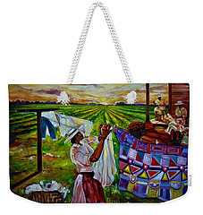 Hanging Out My Clothes Weekender Tote Bag