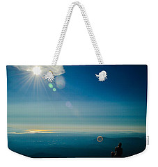 Hanging Out On The Summit Weekender Tote Bag