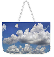 Weekender Tote Bag featuring the photograph Hang'n Round by Kathi Mirto
