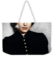 Weekender Tote Bag featuring the photograph Hannah Arendt by Granger