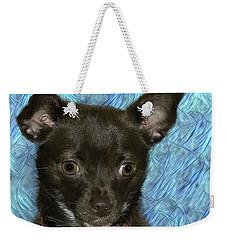 Hannah On Blue Weekender Tote Bag