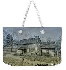 Weekender Tote Bag featuring the digital art Hannastown Log Cabin One by Randy Steele
