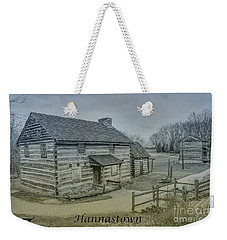 Weekender Tote Bag featuring the digital art Hannastown Log Cabin Two by Randy Steele