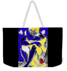 Original Contemporary Painting A Handsome Nude Man Weekender Tote Bag