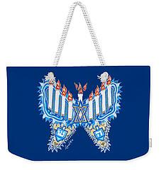 Hanukkah Butterfly Weekender Tote Bag