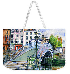 Ha'penny Bridge Dublin Weekender Tote Bag