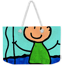 Happi Arte 2 - Boy Fish Art Weekender Tote Bag by Sharon Cummings
