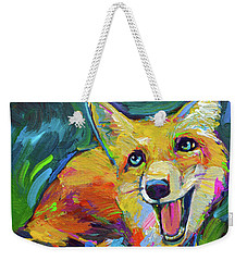Happiest Fox Weekender Tote Bag by Robert Phelps