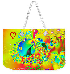 Weekender Tote Bag featuring the mixed media Happiness by Kevin Caudill