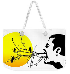 Happiness Must Be Born Within Us 2 Weekender Tote Bag by Paulo Zerbato