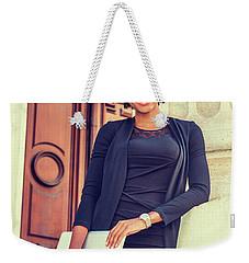 Happy African American College Student Weekender Tote Bag