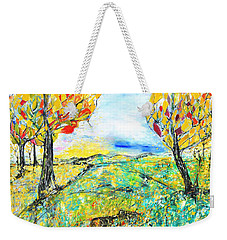 Happy Autumn Weekender Tote Bag