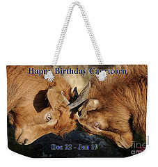 Happy Birthday Capricorn Weekender Tote Bag