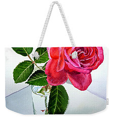 Happy Birthday Card Rose  Weekender Tote Bag