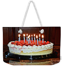 Weekender Tote Bag featuring the photograph Happy Birthday by Debby Pueschel