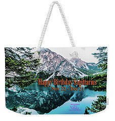 Happy Birthday Sagittarius Weekender Tote Bag