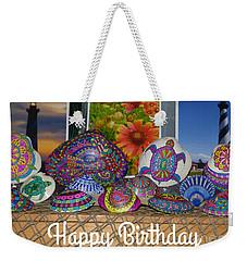 Happy Birthday Shells Weekender Tote Bag