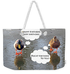 Happy Birthday To You Weekender Tote Bag by Ausra Huntington nee Paulauskaite