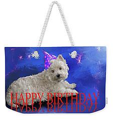 Happy Birthday Westie Weekender Tote Bag