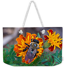 Happy Bumblebee Weekender Tote Bag by Kenneth Albin