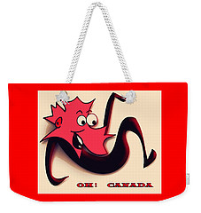 Weekender Tote Bag featuring the digital art Happy Canada Day by Iris Gelbart