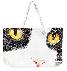 Happy Cat With The Golden Eyes Weekender Tote Bag by Terry Taylor