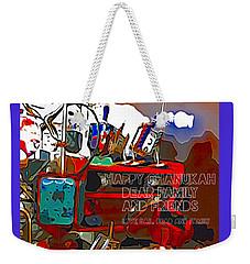Happy Chanukah Weekender Tote Bag