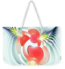 Weekender Tote Bag featuring the digital art Happy Cutouts by Anastasiya Malakhova