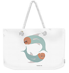 Happy Dancing Fish Weekender Tote Bag