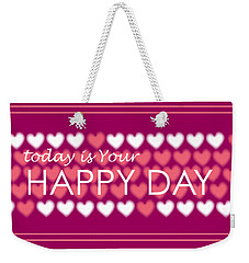 Happy Day Weekender Tote Bag