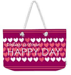 Happy Day Weekender Tote Bag
