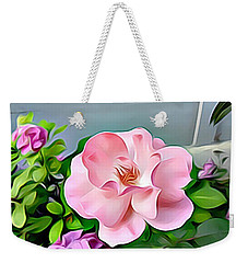 Weekender Tote Bag featuring the digital art Happy Day by Lucia Sirna